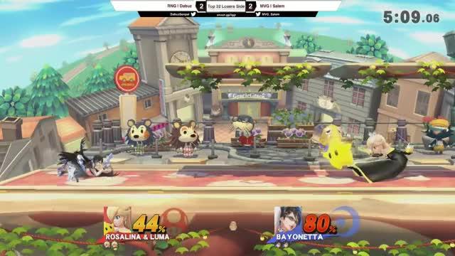 2GGT: ZeRo Saga - RNG | Dabuz (Rosalina) Vs. MVG | Salem (Bayonetta) Losers Side - Smash Wii U