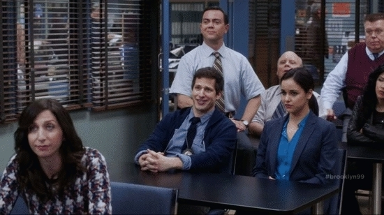 andy samberg, brooklyn nine nine, brooklynninenine, funny, gfycatdepot, high five, No-Look High Five GIFs