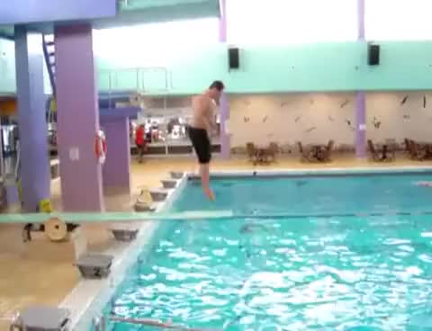Watch and share Diving Board GIFs and Pool GIFs on Gfycat