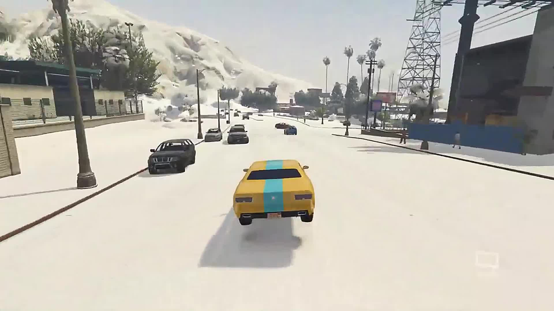 gaming, gtav, inverse power mod, modding, no mass toggle menyoo mod, GTAV never gets old for me with driving mods GIFs
