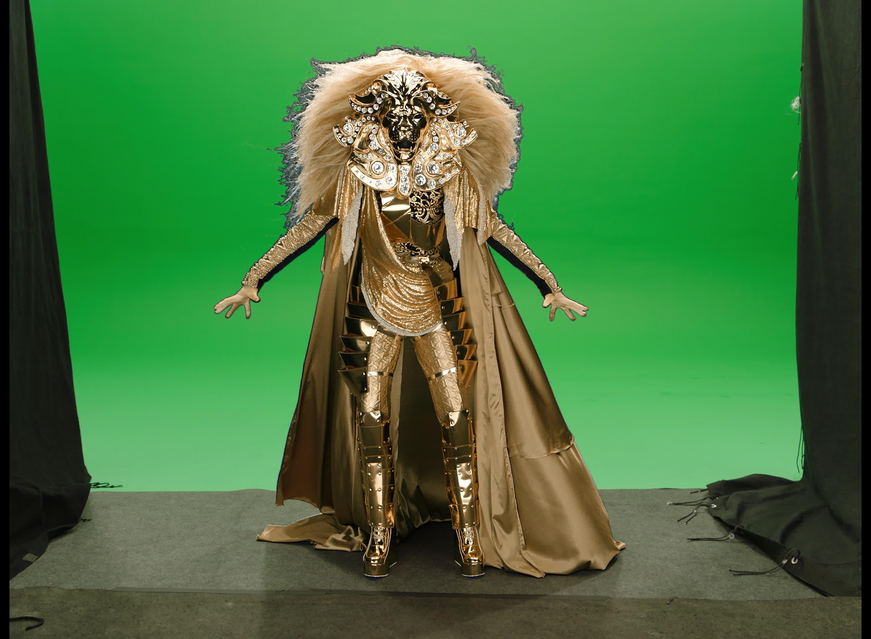 cat, lion, masked singer, pose, posing, the masked singer, the masked singer on fox, waiting, Lion Waiting GIFs