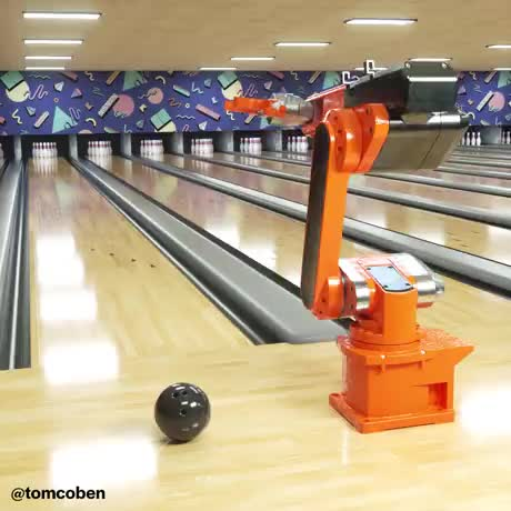Watch and share Bowling Robot GIFs by Gif-vif.com on Gfycat