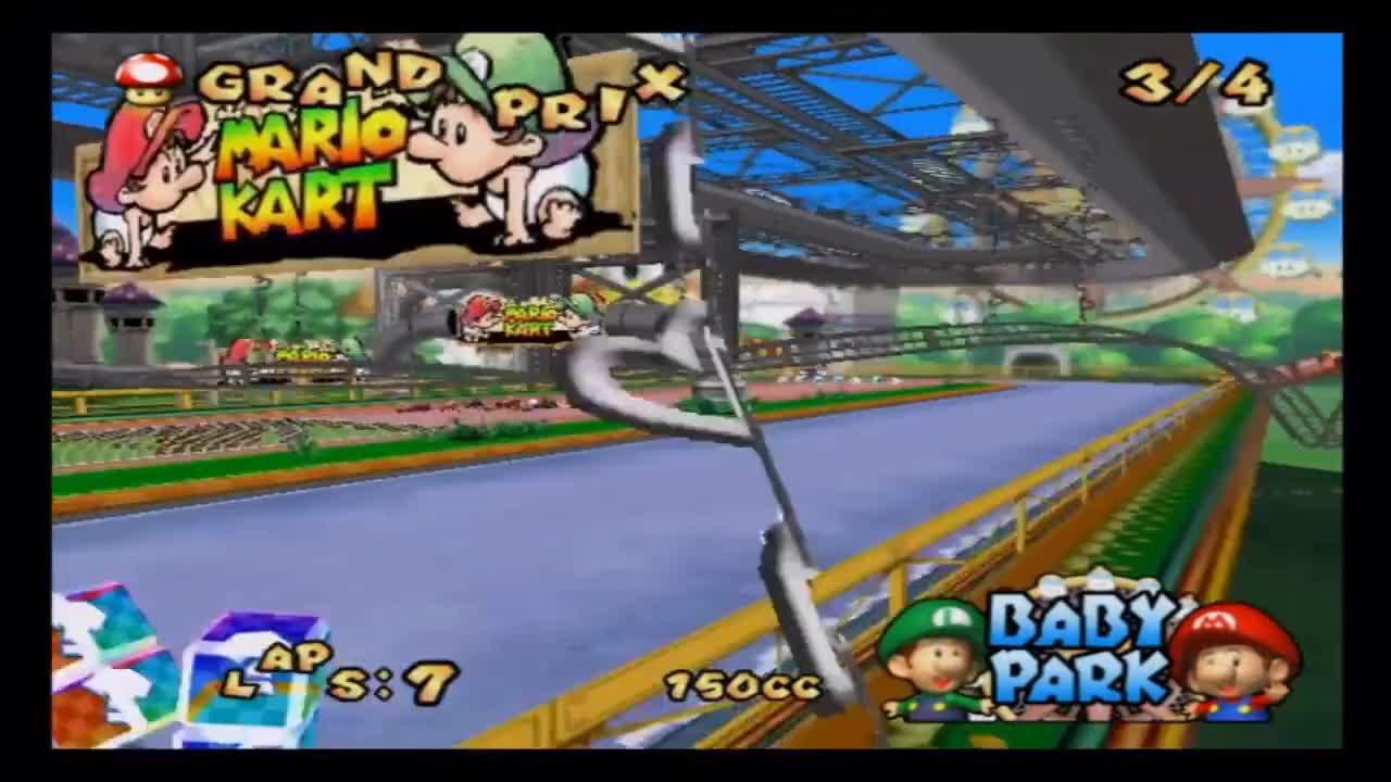electronics, Mario Kart: Double Dash - 150cc Mushroom Cup Grand Prix (40 Points) GIFs