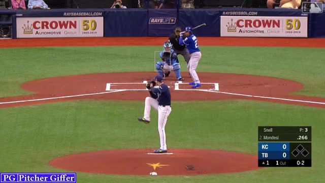 Watch and share Kansas City Royals GIFs and Blake Snell GIFs by Pitcher Giffer on Gfycat