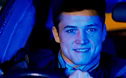 Watch and share Taron Egerton GIFs and Chats GIFs on Gfycat