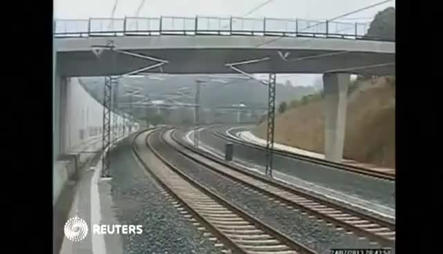 Watch and share CCTV Video Shows Spain Train Crash GIFs on Gfycat