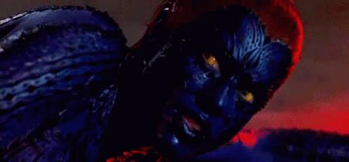 jennifer lawrence, marvel, mutant, mystique, raven darkhölme, rebecca romijn, shapeshifter, x-men, Mystique Xmen GIFs