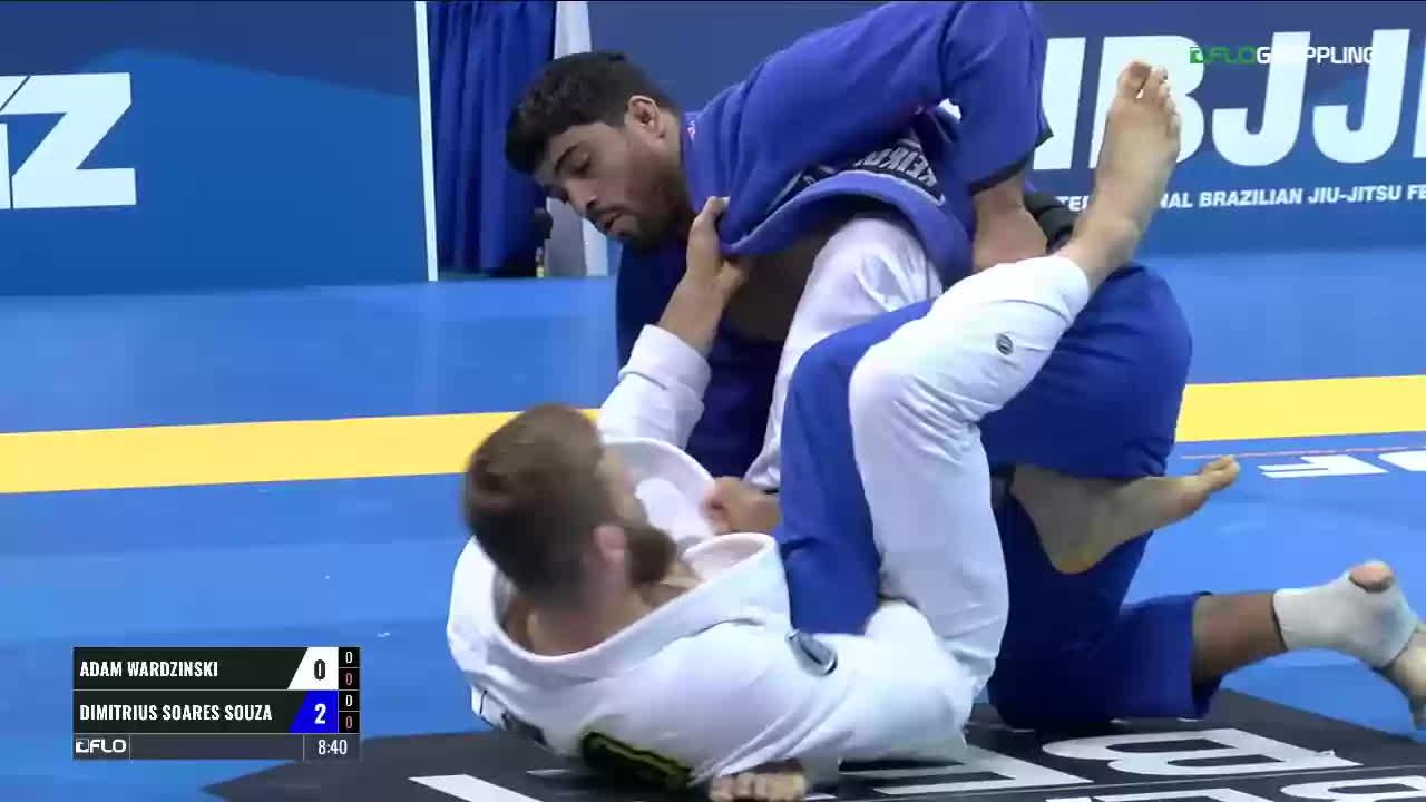 Adam Wardzinski sweeps Dimitrius Souza GIFs
