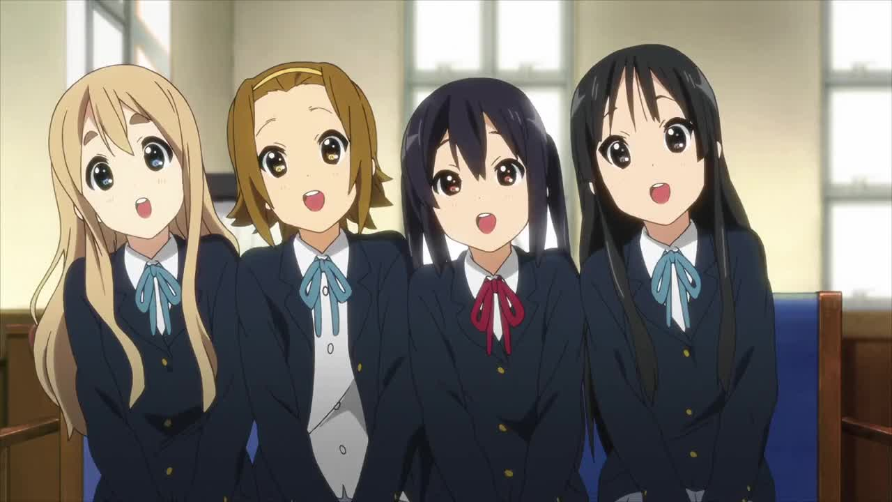 K-ON!!, Singing, anime, cute, K-ON!! Backup vocals GIFs