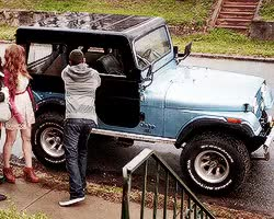 Watch and share Stiles Stilinski GIFs and Roscoe The Jeep GIFs on Gfycat