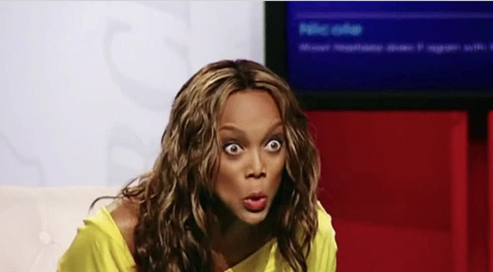 crazy, funny, hilarious, lol, tyra banks, weird, what, wtf, Tyra Banks Crazy GIFs