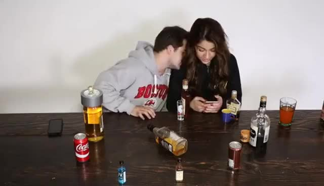 Watch and share Spin The Bottle (Drinking Game) Ft. Andrea Russett GIFs on Gfycat