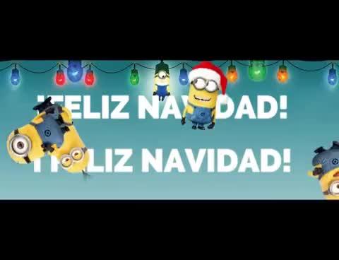Watch and share FELIZ NAVIDAD LOS MINIONS!!!! GIFs on Gfycat