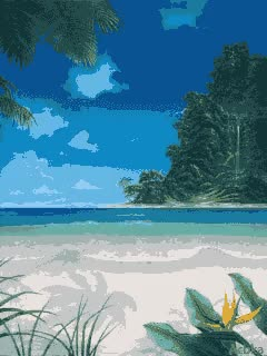 Watch and share Tropical Beach | Nature Gif 240x320 *** | Fanfan.screensavers GIFs on Gfycat