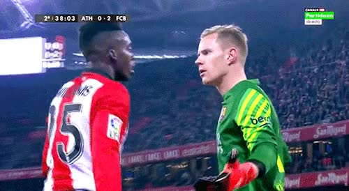 "Watch and share Mascheranoi: ""Sexuality: Angry Marc-André Ter Stegen Saying ¿Qué Pasa? "" GIFs on Gfycat"
