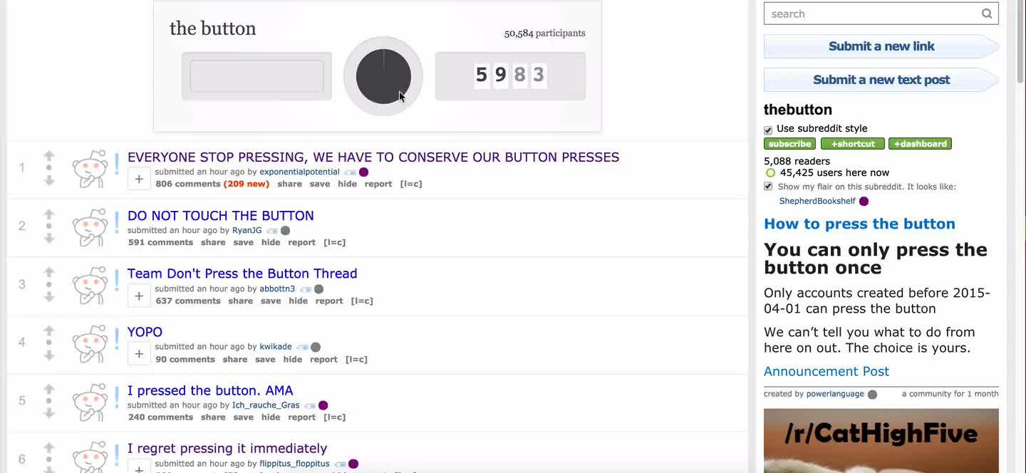 nosleep, thebutton, [HOW TO] You can click the button more than once. (reddit) GIFs