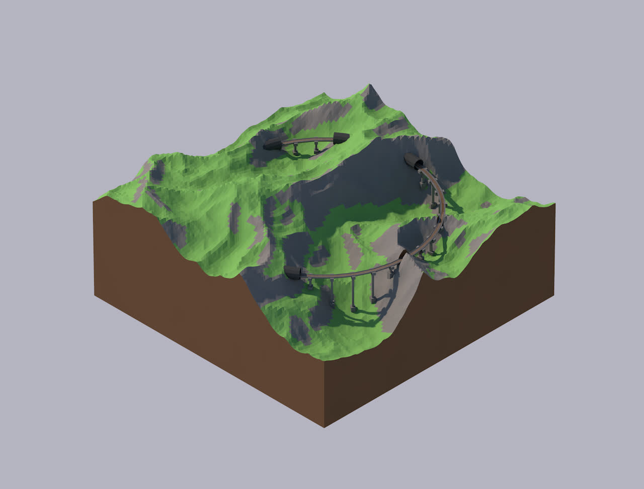 isometric, low_poly, A Train GIFs