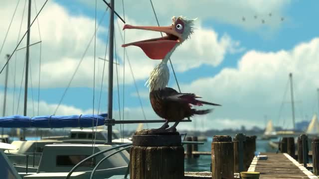 "Watch and share Finding Nemo - ""Mine / Seagulls / Nigel Helps Marlin And Dory"" (HD 1080p) GIFs on Gfycat"