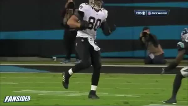 Watch and share Jimmy Graham Jumps Over Defender GIFs on Gfycat