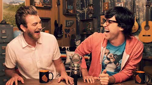 "Watch ""Just get out of there and don't tell anybody it ever happen GIF on Gfycat. Discover more ah I missed making these sets, giggles, gmm, gmm 764, good mythical morning, grave gif, rhett and link GIFs on Gfycat"