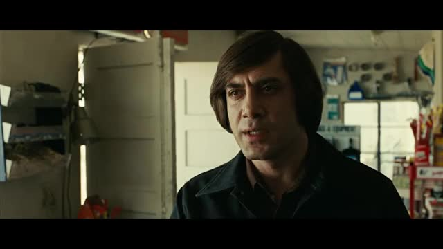 No Country For Old Men Coin Toss HD toss no country for old men killer javier bardem guns coin celebs Old No Men For Country GIF
