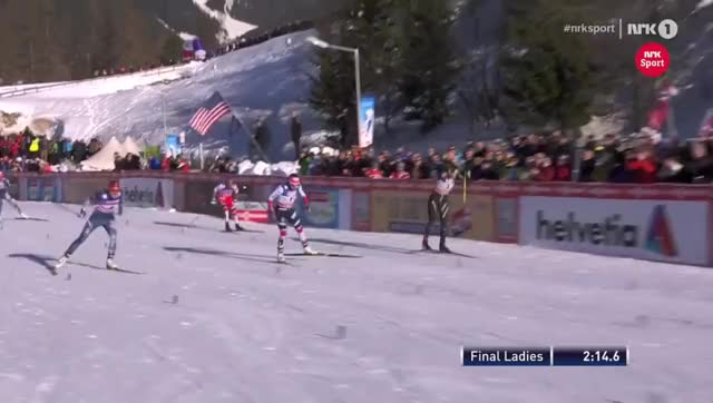 Watch TWO WINNERS - Women's Sprint [F] - Final - Seefeld 2018 GIF on Gfycat. Discover more Cross-country Skiing (Sport), Johannes Høsflot Klæbo, langlauf, langrenn, norge, norway, verdenscup, world cup, xc skiing, лыжные гонки GIFs on Gfycat