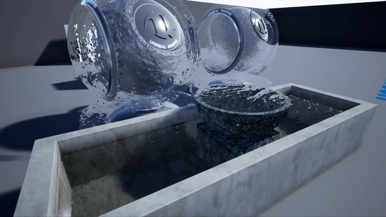 unrealengine, Water & Frosted Glass Material GIFs