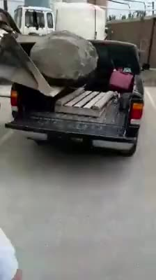 Watch and share WCGW If I Drop A Boulder On My Truck GIFs on Gfycat