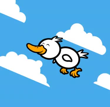 Watch and share Flying Duck.gif GIFs on Gfycat