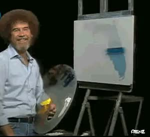 Watch and share Happy Birthday Bob Ross GIFs on Gfycat