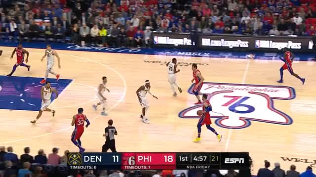 Watch Ben z Murrayem GIF by @prejuce on Gfycat. Discover more Denver Nuggets, Philadelphia 76ers, basketball GIFs on Gfycat