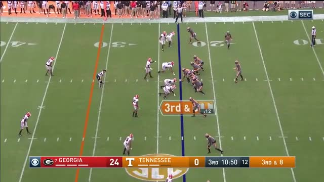 Watch John Kelly vs Georgia 2017 GIF on Gfycat. Discover more College Football, DraftBreakdown, John Kelly, NFL Draft, football GIFs on Gfycat
