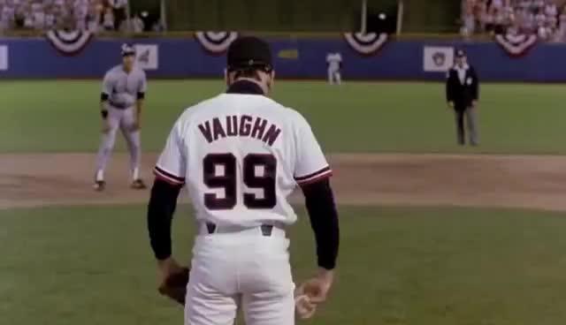 Charlie Sheen, Cleveland Indians, Major League, Rick Vaughn, baseball, charlie sheen, cleveland indians, major league, rick vaughn, Rick Vaughn Turns Around GIFs