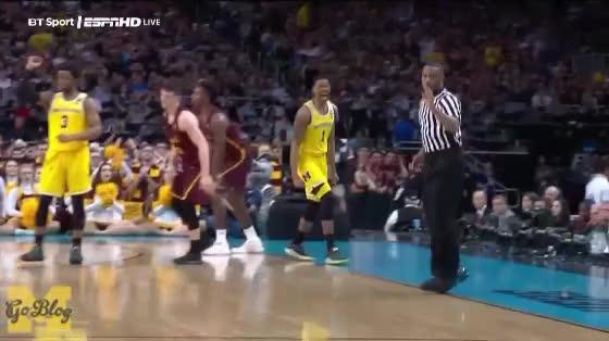 Watch Matthews Yell GIF by MGoBlog (@mgoblog) on Gfycat. Discover more 2017-18, Basketball, Charles Matthews, Loyola Chicago, Michigan, NCAA Tournament, Reaction GIFs on Gfycat