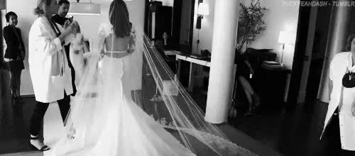 Watch and share Kim Kardashian GIFs and Wedding Dress GIFs on Gfycat