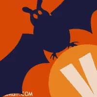 Watch and share Letra V Murciélago Volando GIFs on Gfycat