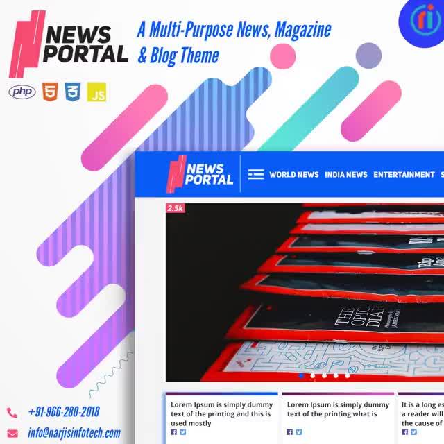 Watch and share News Portal Script GIFs by Narjis Infotech on Gfycat