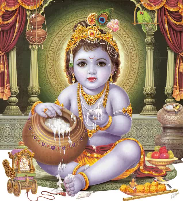 Watch and share Krishna animated stickers on Gfycat