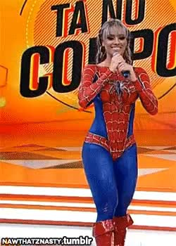 Watch and share COSPLAY: Juju Salimeni As SPIDER-MAN & WONDER WOMAN (Body Paint) GIFs on Gfycat