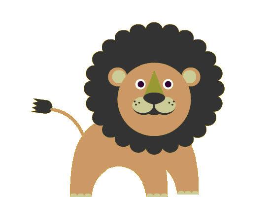 animal, cute, funny, lion, loop, sticker, stickers, zoo, Lion Sticker GIFs
