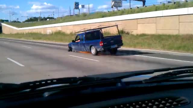 Watch Driving on highway with no tire GIF on Gfycat. Discover more 360, DFW, idiot, sparks, tire, truck GIFs on Gfycat