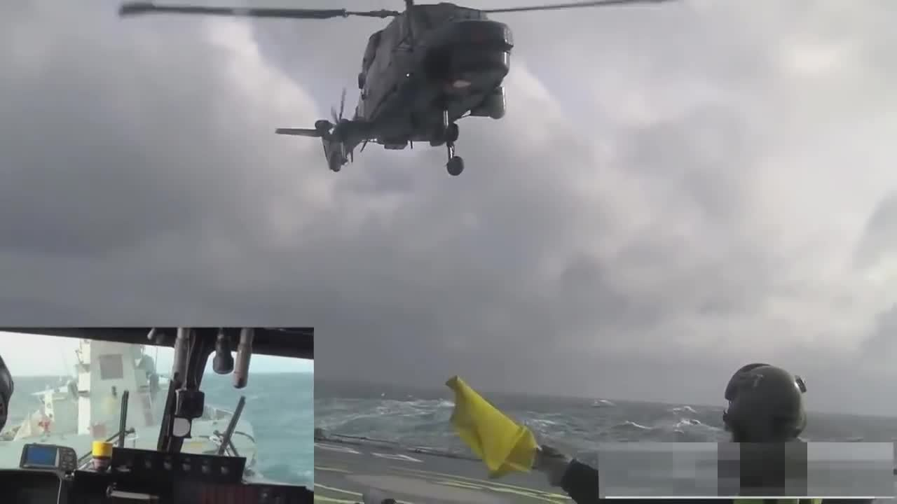 aviation, aviationgifs, Lynx helicopter landing on ship in rough sea GIFs