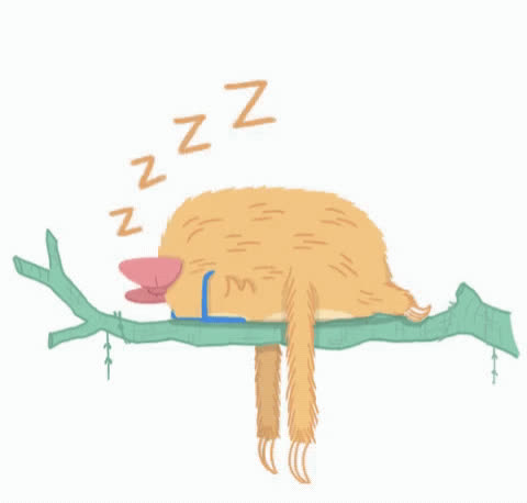bedtime, exhausted, naptime, pass out, sleep, sleepy, slothilda, tired, Passing Out GIFs