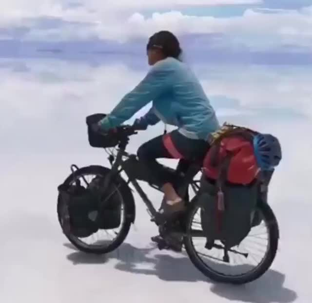 Watch and share Uyuni Bolivia GIFs and Bicycling GIFs by drjsfro on Gfycat