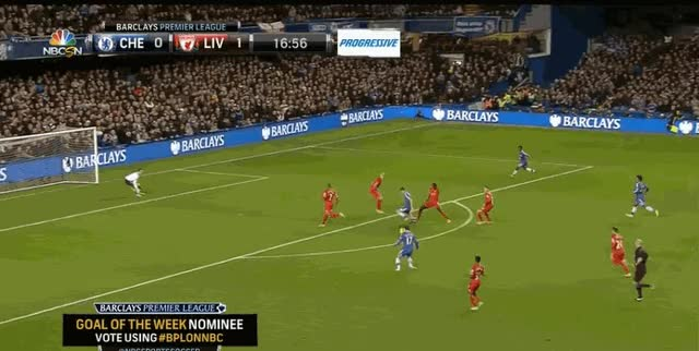 Watch and share Hazard Goal GIFs on Gfycat