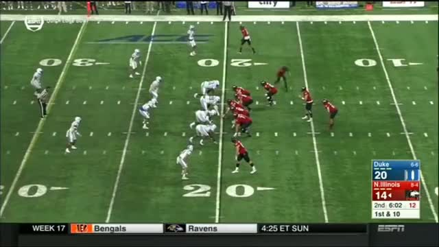 Watch and share Duke Vs Northern Illinois (Dec.26)   College Football Bowl Quick Lane GIFs by nolesfan4440 on Gfycat