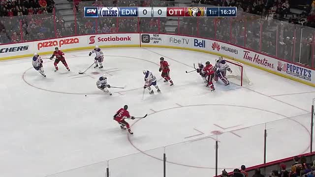 Watch and share Smith Knocks In Deflected Puck GIFs on Gfycat