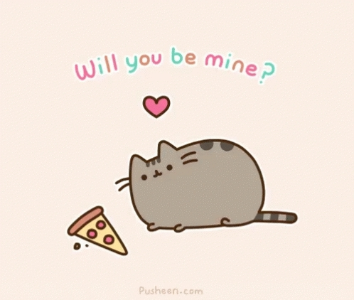 cat, cats, happy valentines day, pusheen, pusheen cat, pusheen the cat, valentines day, be min GIFs