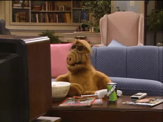 Watch ALF  Couch Potato GIF by Bob (@bobtheb1976) on Gfycat. Discover more Alf, Couch Potato, Lol, Popcorn, Watching TV GIFs on Gfycat