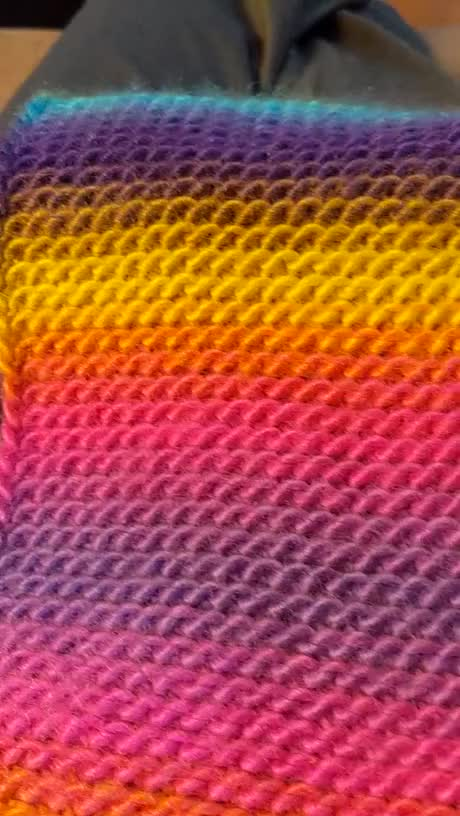 Watch and share This Knitted Rainbow Scarf GIFs by HellsJuggernaut on Gfycat